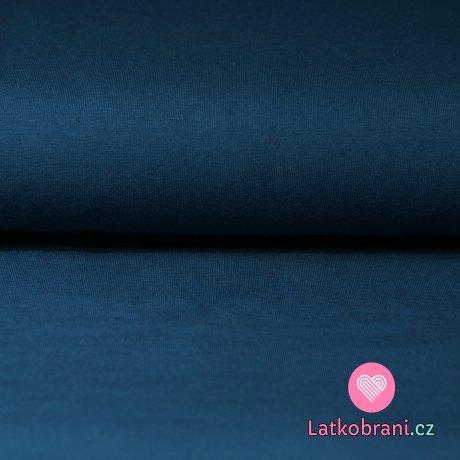 Jednobarevný úplet tmavě modrý 215g