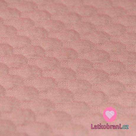 Pletenina plastické bublinky starorůžové