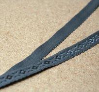 Krajka lemovací elastická šedá