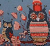 Bordura sovičky na modré