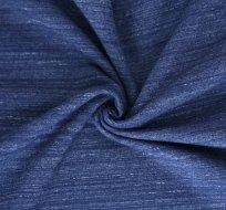 Teplákovina tmavě modrá melé pruhy speciál