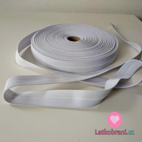 Pruženka bílá půlená 25 mm