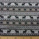 Pletenina, svetrovina norský vzor se soby v šedé