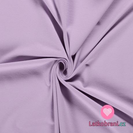 Jednobarevný úplet fialový lila do studena 240 g