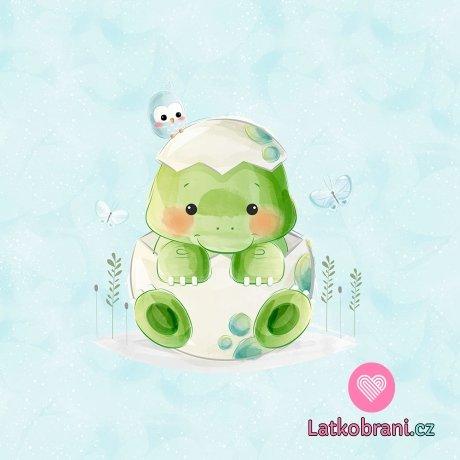 Panel sladký baby dinosauřík ve skořápce