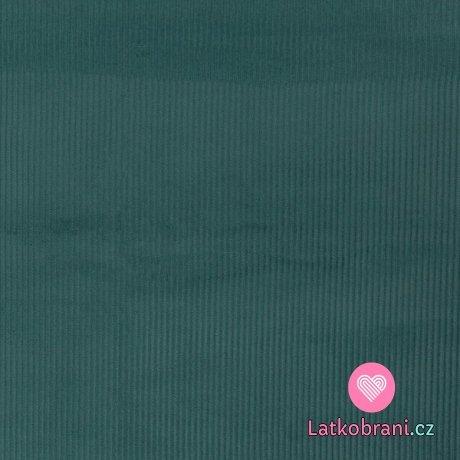 Elastický manšestr smaragdový
