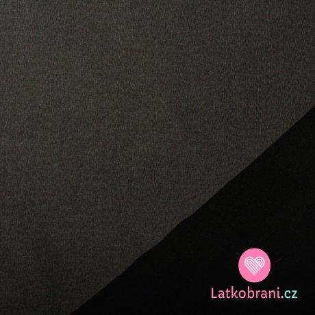 Softshell černé melé s fleecem
