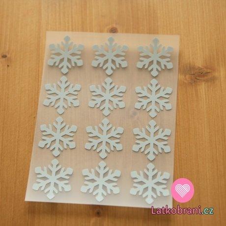 Reflexní nažehlovačka sněhové vločky (12ks)