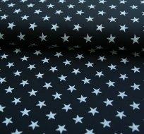 Teplákovina hvězdy bílé na tmavé navy
