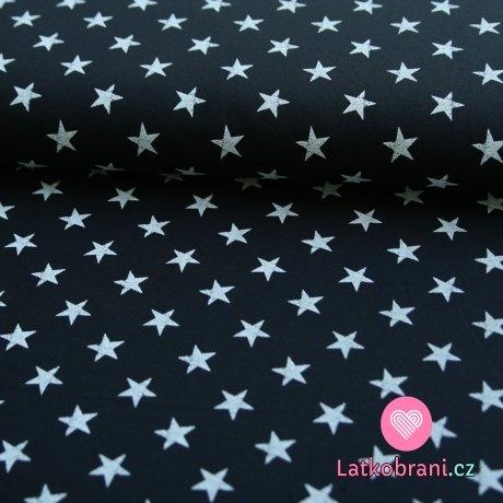 Teplákovina hvězdy bílé na téměř černé