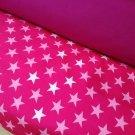 Softshell hvězdy růžové, bílé na neon růžové (2,5cm)