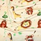 Úplet jungle lev, mědvě a žirafa béžový podklad