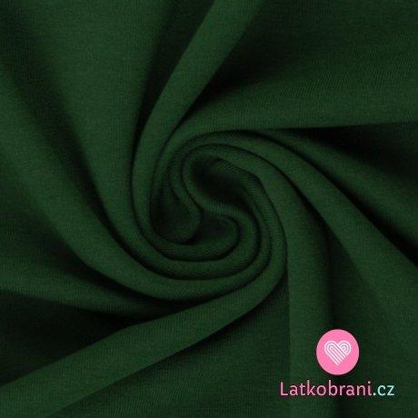 Teplákovina jednobarevná zelená lesní