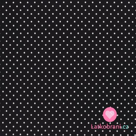 Úplet potisk puntíky na černé