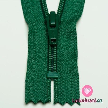 Zip spirálový nedělitelný zelený 12 cm