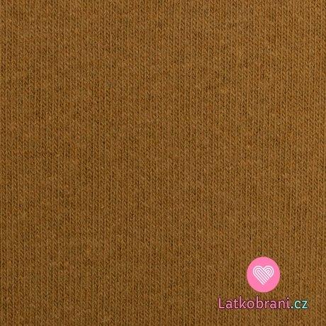 Italská pletenina, počesaná okrová
