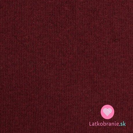 Italská pletenina, počesaná bordó