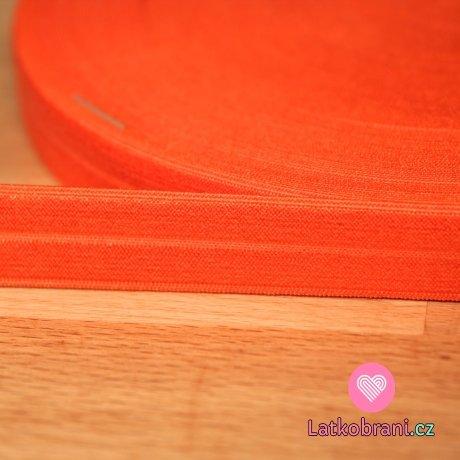 Šikmý proužek / lemovací pruženka oranžová