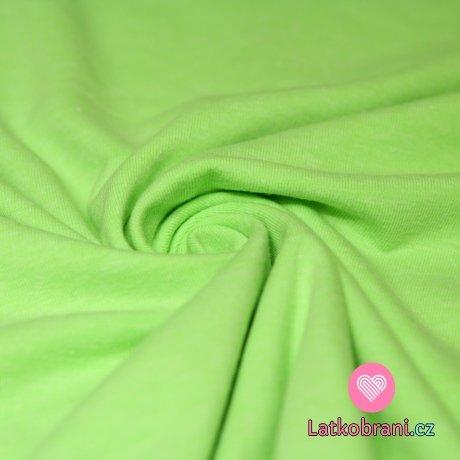 Jednobarevný úplet neon zelený 215g
