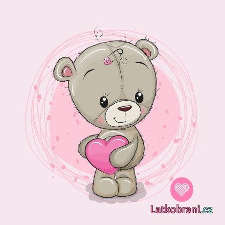 Panel medvídě holka na růžové