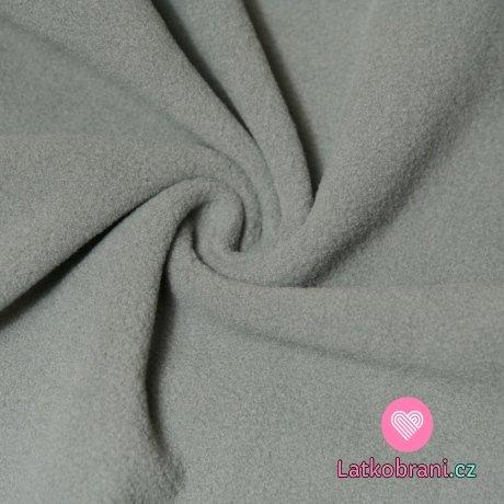 Jemný polar fleece šedá tmavější antipiling