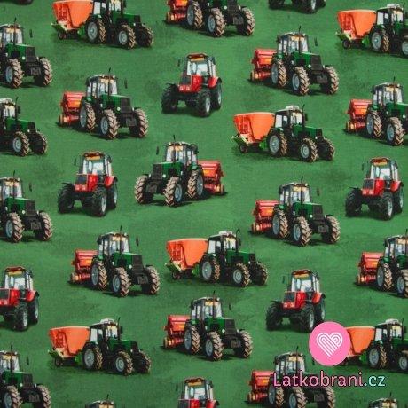 Úplet digitisk traktory na zelené