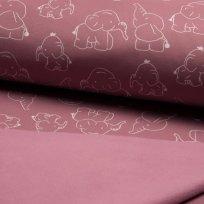 Softshell slůňátka na růžové s fleecem