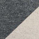 Svetrovina s beránkem, jeans efekt černá