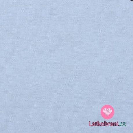 Jednobarevný, oboulícní bavlněný úplet světle modrý