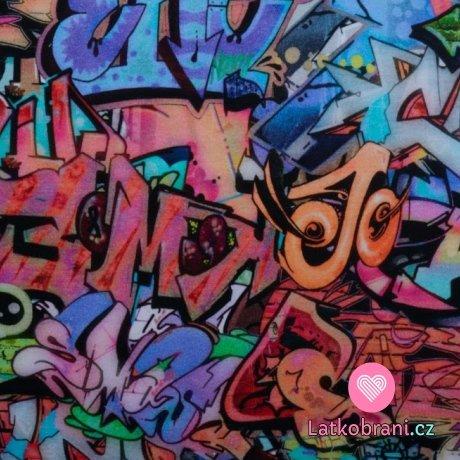 Teplákovina potisk barevná graffiti scéna