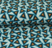 Úplet trojúhelníčky s obrysem na modré