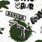 Úplet potisk dinosauři na kropenaté bílé