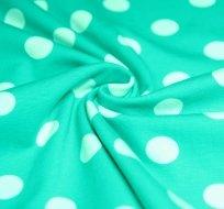 Úplet smaragd velký bílý puntík