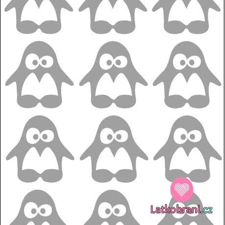 Reflexní nažehlovačka tučňáci (12ks)
