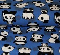 Úplet panda na královsky modré