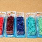 Patentky plastové Color snaps šedé-khaki