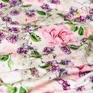 Úplet ostružiny s květy na smetanové