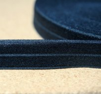 Šikmý proužek / lemovací pruženka extra tmavě modrá 19mm