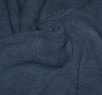 Bavlněný fleece džínově modrá