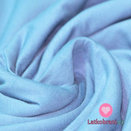 Jednobarevný úplet modrý světlejší 240 g