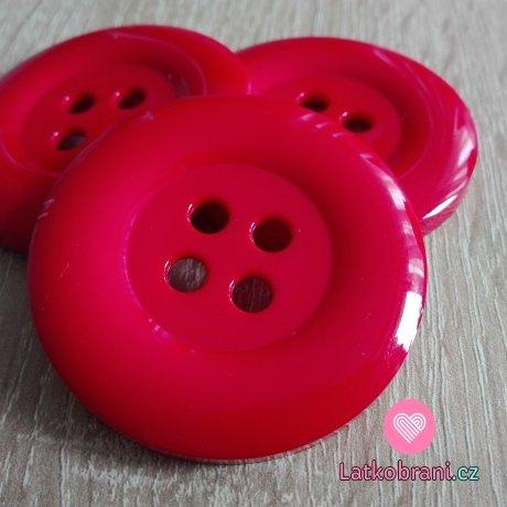 Knoflík mega velký červený