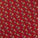 Úplet potisk panáček stavitel a bagr ze stavebnice na červené