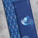 Teplákovina potisk poutavé řetězce v modrých odstínech