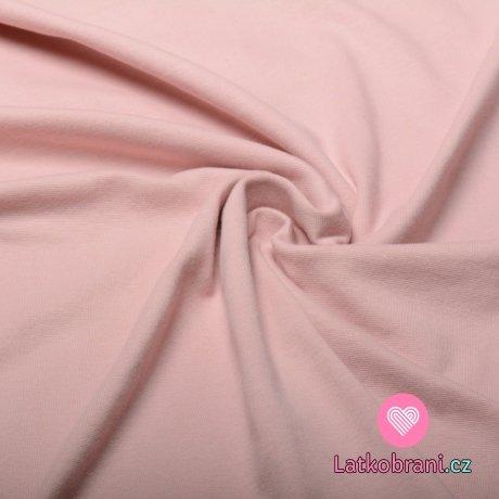 Náplet hladký pudrově růžový 160 cm