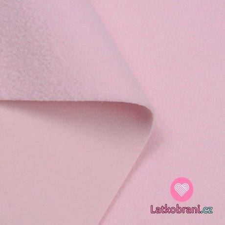 Softshell baby růžový s fleecem