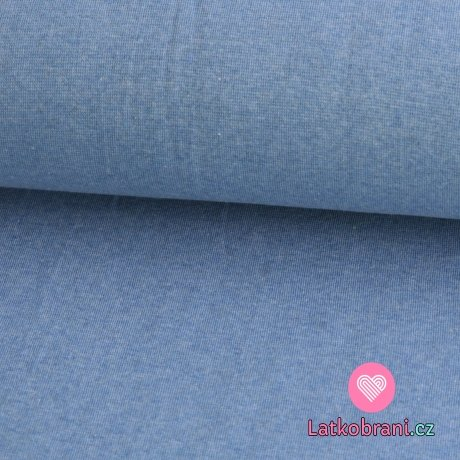 Náplet hladký středně modré jeans melé 240g