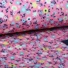 Softshell potisk drobná kvítka na růžové