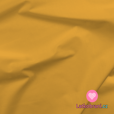 Bavlněné plátno jednobarevné žluté mango
