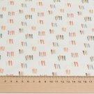 Úplet potisk barevné čárky na bílé, BIO