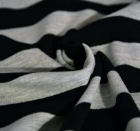 Úplet proužky černé s šedým melé širší 2,5cm